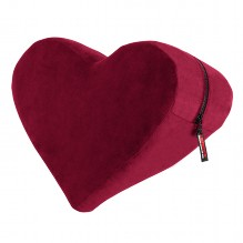 Heart Wedge Positiekussen - Merlot